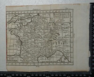 1758 - France Map, P Buffier - Geographie Universelle - Sculptured by Faure