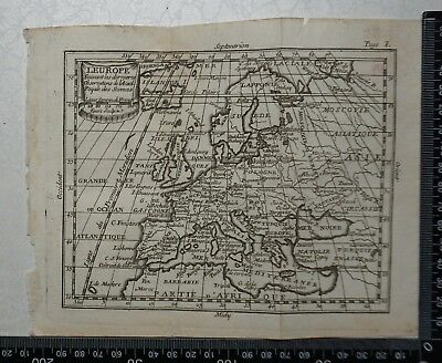 1758 - Europe Map, P Buffier - Geographie Universelle - Sculptured by Faure