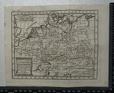 1758 - Germany  Map, P Buffier - Geographie Universelle - Sculptured by Faure