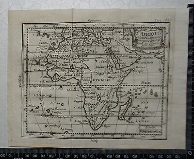 1758 - Africa Map, P Buffier , Geographie Universelle - Sculptured Faure