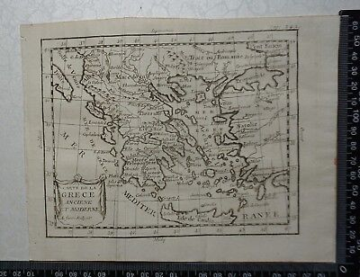 1758 - Greece Map, P Buffier , Geographie Universelle - Sculptured Faure