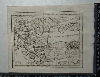 1758 - Turkey in Europe Map, Greece,Bulgaria, P Buffier ,Geographie Universelle
