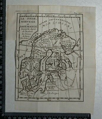 1758 - Norway, Sweden and Denmark Map,  P Buffier ,Geographie Universelle