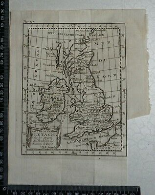 1758 - British Isles Map,  P Buffier ,Geographie Universelle