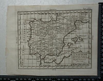 1758 - Spain and Portugal Map,  P Buffier ,Geographie Universelle