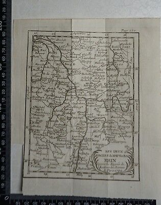 1758 - River Rhine, France, Germany  Map,  P Buffier ,Geographie Universelle