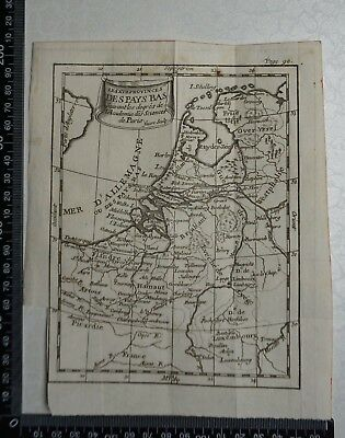 1758 - Netherlands, Belgium, Luxemburg Map,  P Buffier ,Geographie Universelle