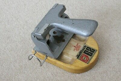Vintage Hole Punch The Bullfinch Punch On wooden base.  British Made