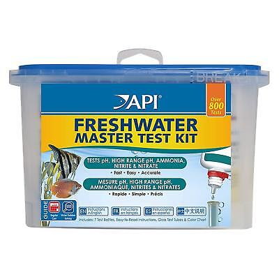 4 x API Freshwater Master 800 Test Kit Aquarium Water pH Ammonia Nitrite Nitrate