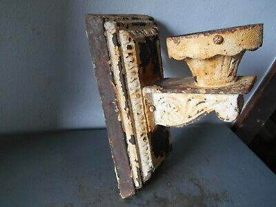Antique Art Deco Gothic Heavy Cast Iron Wall Sconce/Lamp
