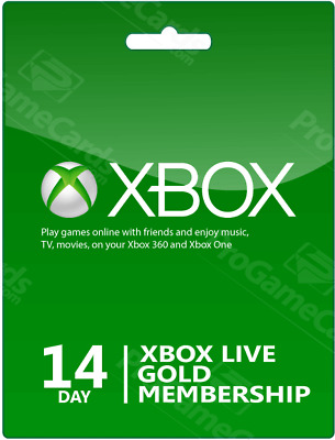Xbox Live 14 Day (2 weeks) Gold Membership Trial Code FAST EMAIL DELIVERY
