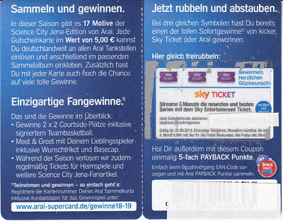1 Aral Coupon / Gutschein für 3 Monate Sky Entertainment