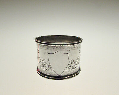 Superb Victorian Solid Silver Napkin Ring Sheffield