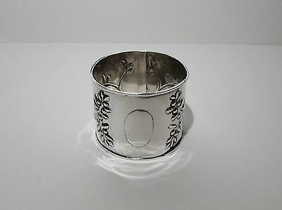 Antique Arts and Crafts Solid Silver Napkin Ring Chester 1907 John Gatecliff
