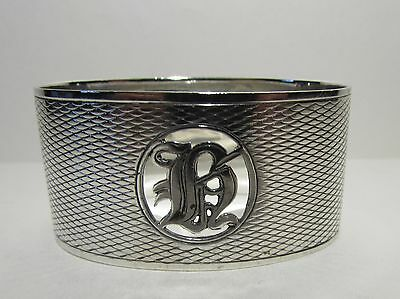Solid Silver Napkin Ring with Gothic Letter 1926 Fully Hallmarked