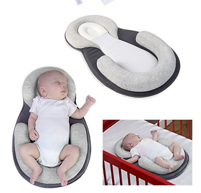 TOP Baby Pillow Sleep Cushion Newborn Crib Portable Breathable Nest Bed Mattress