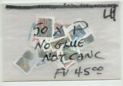 "CANADA 50 x ""P"" STAMPS NO GLUE UNCANCELLED POSTAGE FV$45.00 LOT 11"