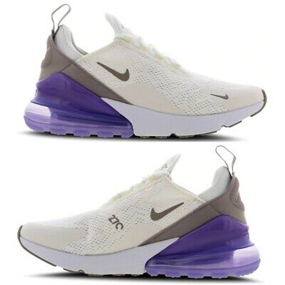 NIKE AIR MAX 270 Sail Space Purple White Pumice Girls