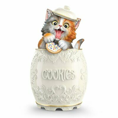 The Purr-fect Treat Ceramic Kitty Cookie Jar by The Bradford Exchange