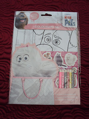 The Secret Life of Pets colouring set/stickers/pencils Children's gift NEW