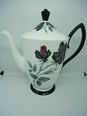 Royal Albert Masquerade Coffee Pot 1.25 Pints Bone China Vintage British Rare