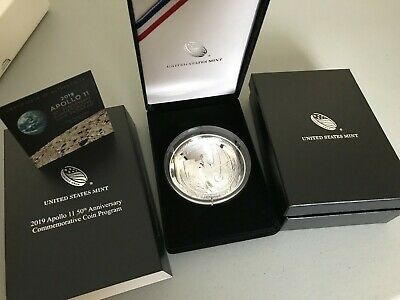 2019-S Apollo 11 50th Anniversary Five Ounce Proof Silver Dollar 5 oz with OGP