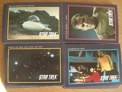 Star Trek 1991 25th Anniversary Edition set of 80 cards - Impel cards
