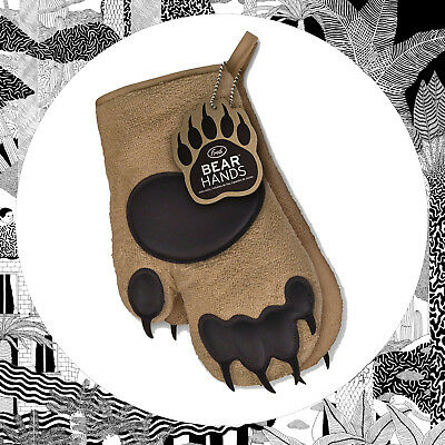 Bear Mitt Oven Gloves- Pair Of Oven Glove Grizzly Hands- Fred Hand Protector New