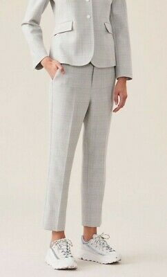 NWT GANNI Suiting Slim Pants in Smoked Pearl Size 12 (US)