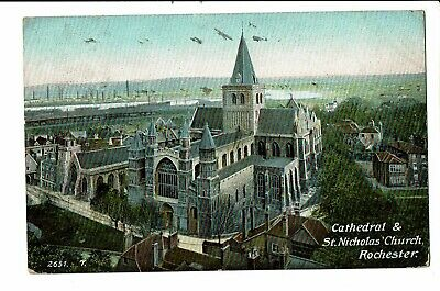 CPA - Carte postale -Royaume Uni - Rochester-- Cathedral & St Nicholas Church