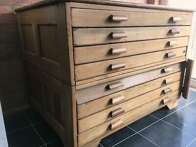 Antique Plan Chest George V (Pine?)