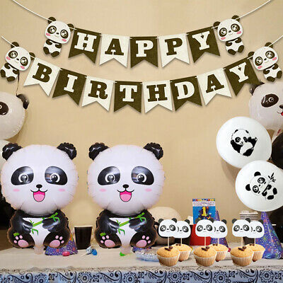 Kids Favors Foil Balloons Panda Theme Inflatable Toy Birthday Party Banner