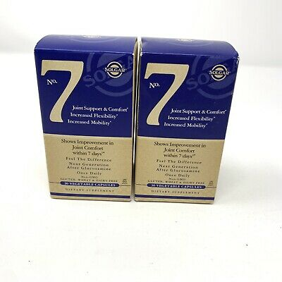 Solgar No 7 Joint Support and Comfort LOT OF 2 30 Vegetarian Capsules EXP 2021