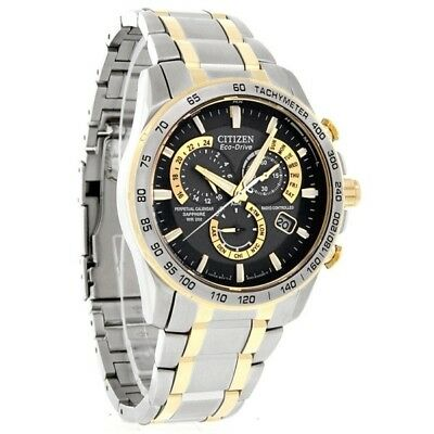 Citizen AT4004-52E Men's Radio Controlled Perpetual Calendar Eco-Drive Watch