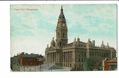 CPA - Carte postale -Royaume Uni - Portsmouth - Town Hall VM2448