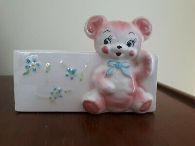 """Vintage Rare Handpainted Baby Planter Made in Japan 6"""" X 3.5"""""""