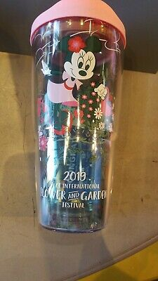 Disney Parks Epcot 2019 Flower & Garden Minnie Tervis Tumbler 24 oz New