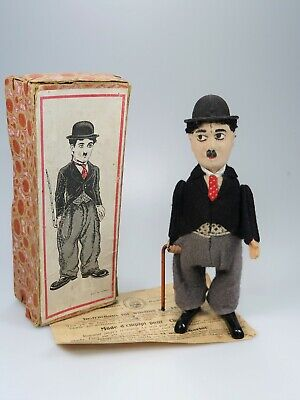 Schuco Patent Nr. 940 Charlie Chaplin Tanzfigur in OVP (ab 1930) Funktions i.O.
