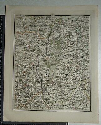 1794 - John Cary Map 42 - Parts of Derbys,Nottinghamshire,S.Yorks,Lincs