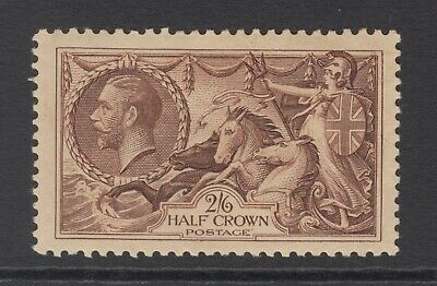 GB KGV 2s.6d. Chocolate-Brown SG450 SEAHORSES George V 1934 Mint Hinged Stamp