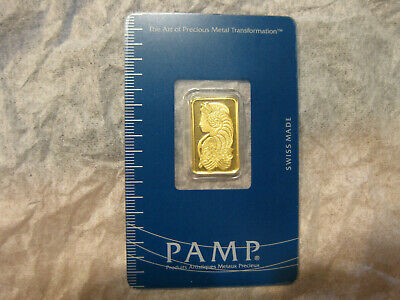 10 Gram Gold Bar – PAMP Suisse – Fortuna – 999.9 Fine in Sealed Assay A098444