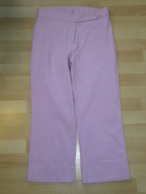 NEW Matalan Amaranto Pink Stretchy Cropped Trousers Jeans Straight Leg Size 12