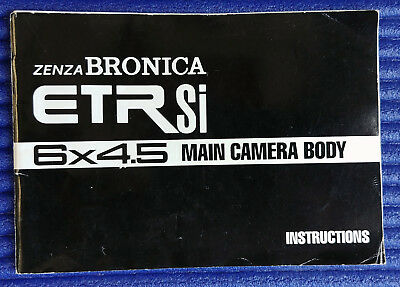 ZENZA BRONICA ETRSi CAMERA INSTRUCTIONS