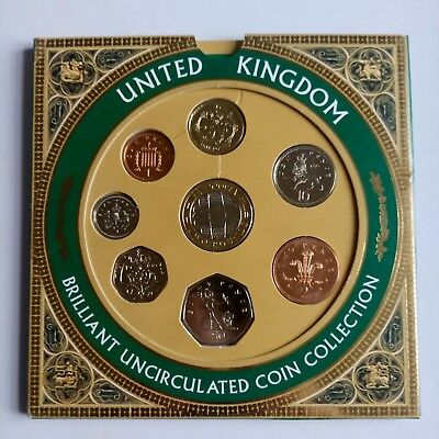 1999 United Kingdom Uncirculated 8 coin collection set inc Rugby World Cup £2