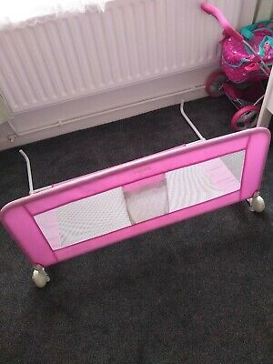 Tomy children's Bed Rail Pink Guard fold down