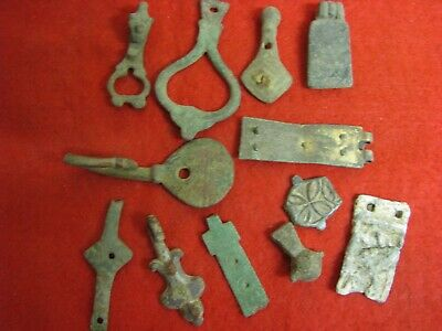 Medieval And Saxon Strap Ends Metal Detecting Finds