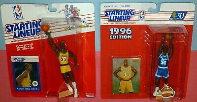 finest selection 16518 e6d44 LOS ANGELES LAKERS lot 1988 Kareem Abdul Jabbar Shaquille O Neal Starting  Lineup