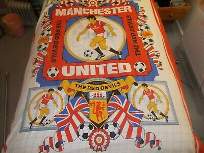 Very Rare Vintage Manchester United Red Devils Duvet Cover & P-case 1984 Ex Cond