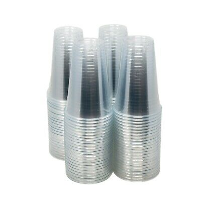 EDI Disposable Plastic Party Cups Crystal Clear PET Plastic Cups 100 Count