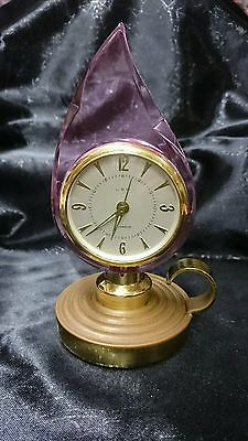 Old Art Deco German  LSM Miniature  Alarm Clock Cleaned And Serviced GWO